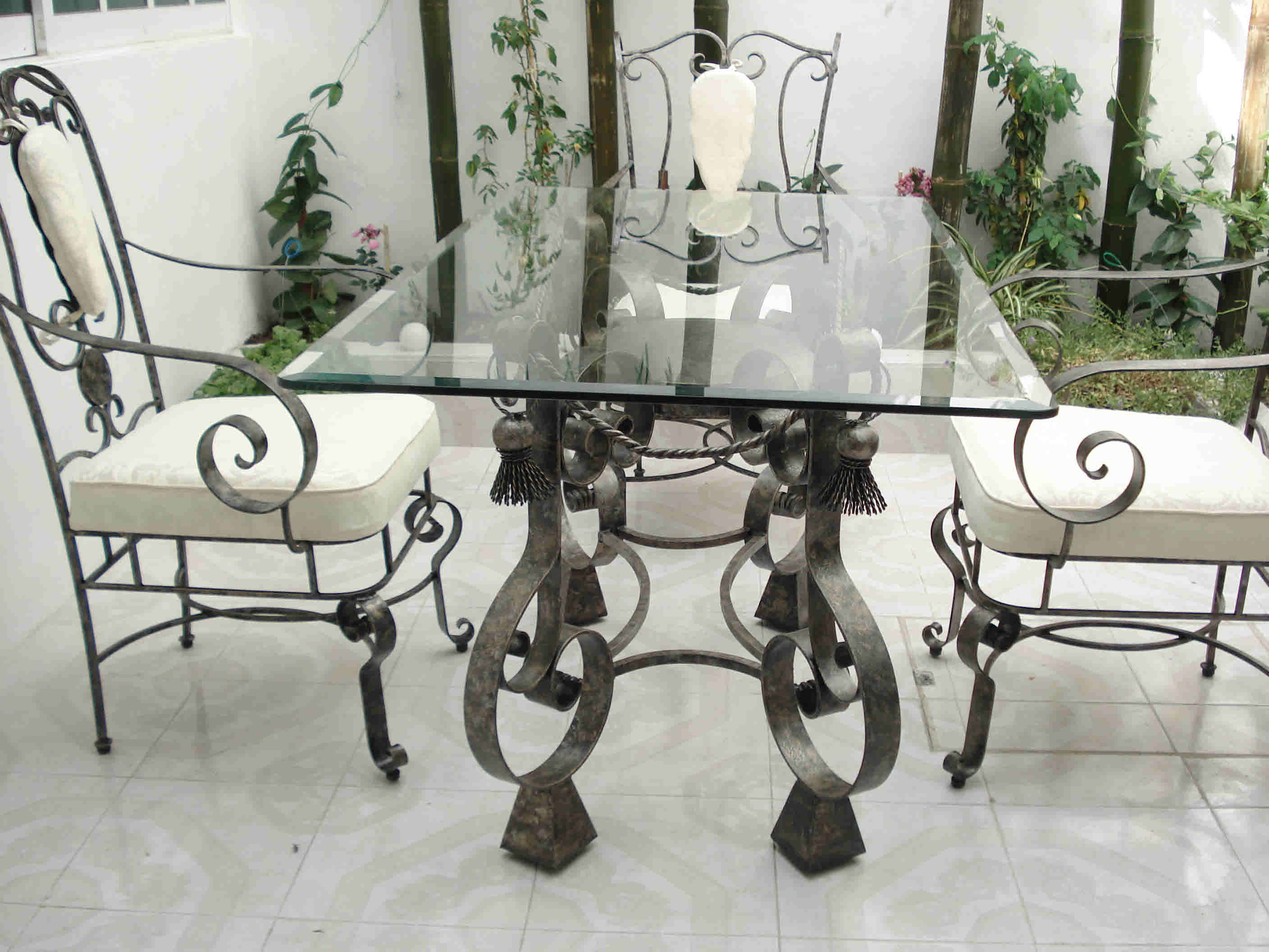 Mexico Outdoor Wrought Iron Dining Room