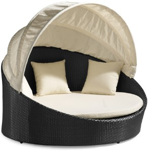 All Weather rattan lounging pod