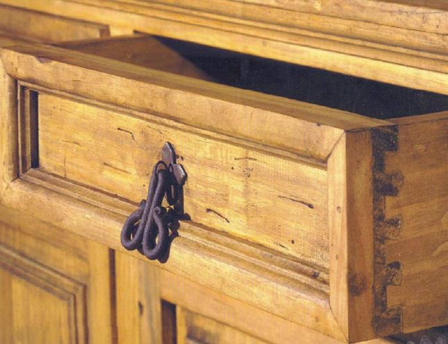 Rustic Furniture Closeup Shot