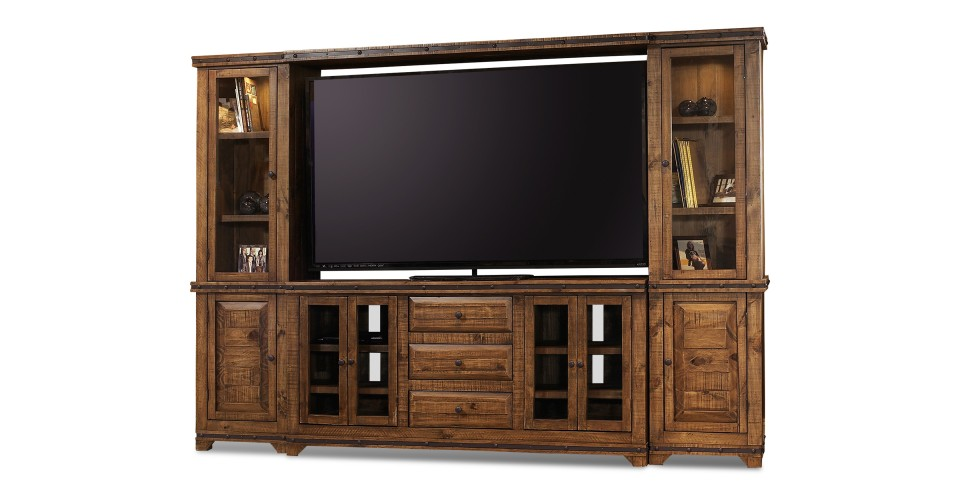Simple Rustic Hacienda Entertainment Center