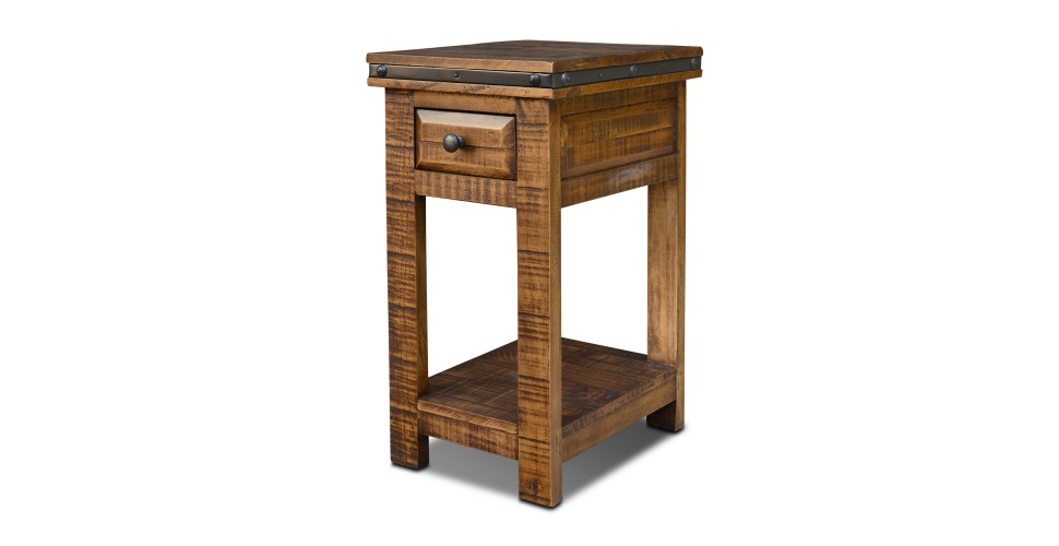 Simple Rustic Hacienda Side Table