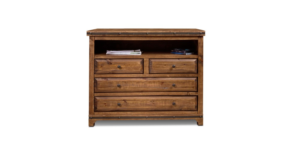Simple Rustic Hacienda TV Chest straight