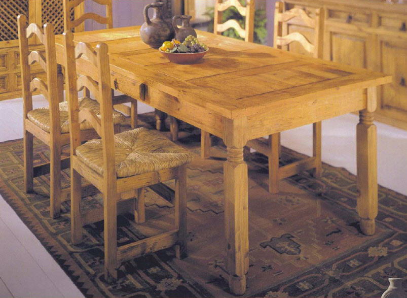 & Dining Tables : Basic Rustic Dining Set